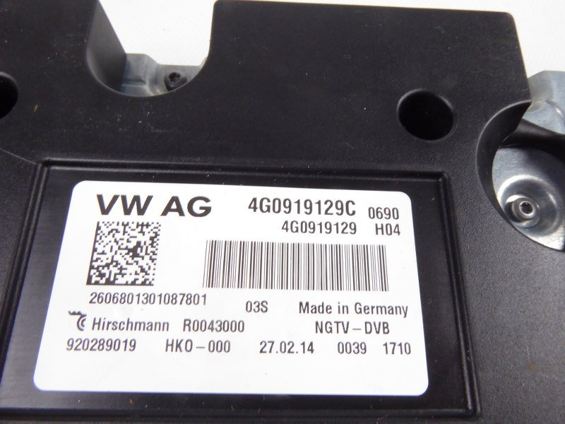 TV TUNER CONTROL UNIT VW AUDI 4G0919129C