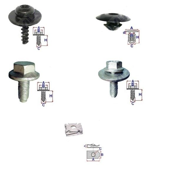 undertray guard engine cover clips  u0026 screw kit a3 a4 golf caddy jetta touran
