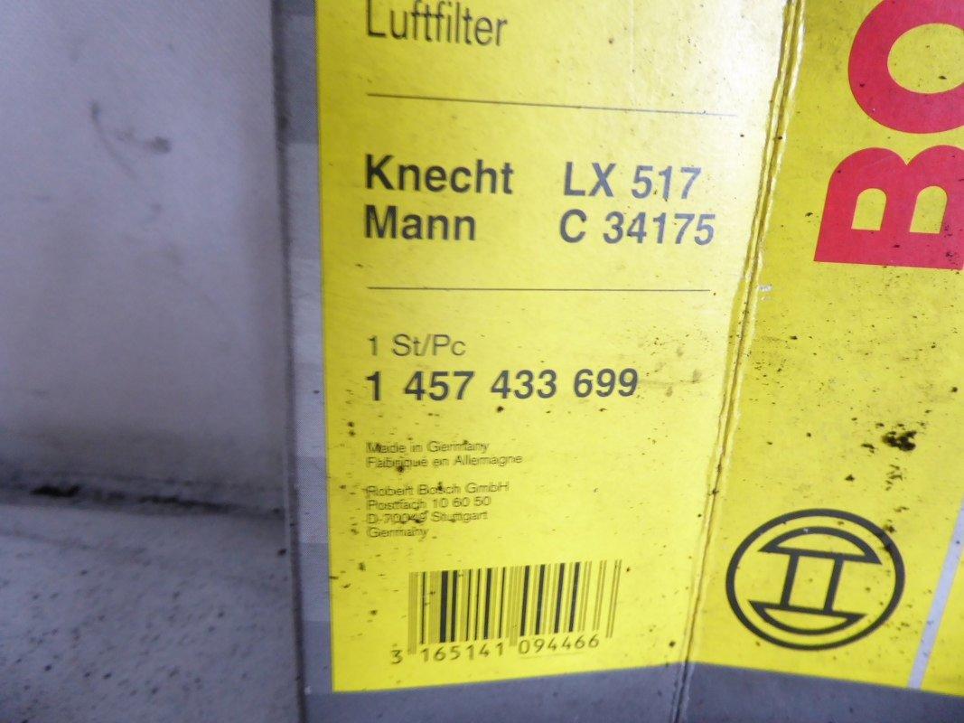Bosch original filtro filtro de aire 1 457 433 300 Air Filter