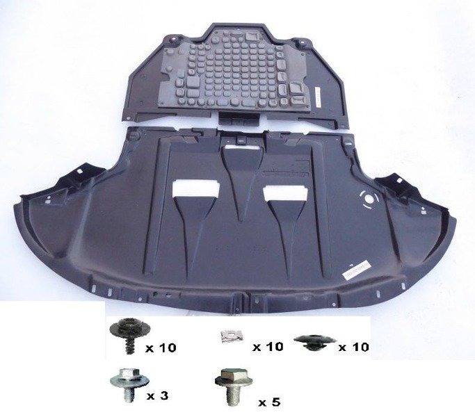 ENGINE GEARBOX COVER UNDERTRAY+FITTING KIT (38pcs) - AUDI A4 2001-2008 B6 B7