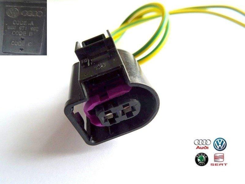 NEW OE ELEKTRONISCHER WÜRFEL STECKER CONNECTOR PLUG VW AUDI 1J0973701